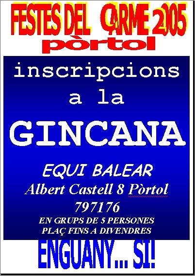 poster gincana 2005
